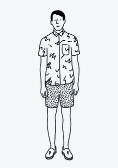 Fun fashion illustration in Black and White by Jan Buchczik