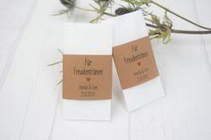 """Gastgeschenke - Freudentränen-Banderole """"Herz"""" Kraftpapier - ein Designerstück von Formatreich-Hochzeitskarten bei DaWanda"""