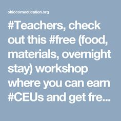 teachers check out this free food materials overnight stay