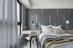 Painel/armário atrás da cama Home Decor Furniture, Luxury Furniture, Bedroom Furniture, Furniture Design, Serene Bedroom, Home Bedroom, Bedroom Decor, New Bedroom Design, Bed Design