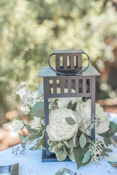 Wedding centerpiece with lantern