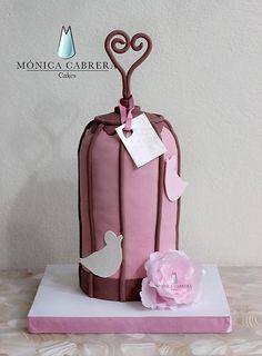 Pastel Jaula Monica Cabrera Cakes www.monicacabreracakes.com Puebla, México