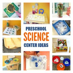 Preschool Science Center - Science Activities For - No Time For Flash Cards Science Area Preschool, Preschool Behavior, Preschool Centers, Preschool Lesson Plans, Activity Centers, Science Centers, Kid Science, Science Ideas, Science Experiments