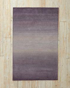 Ombré Horizon Tufted Wool Rug- purple