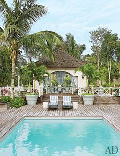 Bright Colors Transform a Tropical Beach House