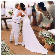 @carla_kiyam #renatoecarla #noivatrinita #bride #bridal #noiva #beachwedding #wedding #weddingdress #trinita #trinitacouture