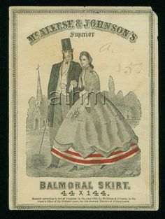 McAleese & Johnsons Balmoral Skirt label, 1866; ATHM 0000.669