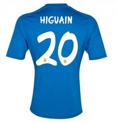 13/14 Real Madrid Maglia Calcio HIGUAIN # 20 Blu Calcio Maglia
