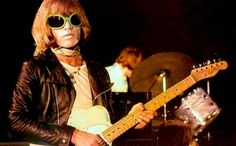 Brian Jones (on his Fender Telecaster) throwin' some heavy, funk vibe — way pre-Lenny Kravitz. There'd be no Rolling Stones without Jones, who was undoubtedly the most versatile musician ever to bless the band, and easily rivaled Mick Jagger for sex symbol status.  Jones also had a very eclectic taste in guitars