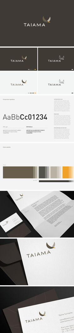 Corporate and brand identity Taiama by Roger Oddone