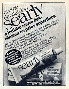 anuncio creme depilatório Searly - 1979