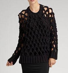 Alexander Wang - Lattice Bobble Sweater (Black) 1