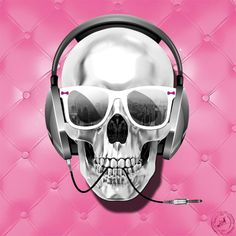 Tableau toile SKULL ELECTRICK PINK by Lab2Design