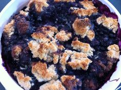 Very Canadian Foods - Blueberry Grunt. Blueberry pie with dumplings and without the traditional pie crust.