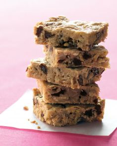 Oatmeal-Raisin Bars, added walnuts and a bit of vanilla, easy and a hit with the boys