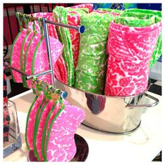 Terry cloth beach accessories - wet bags for swimsuits, etc.