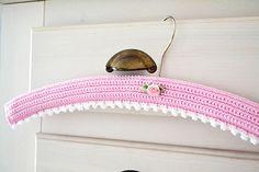#Crochet Coverd Hanger ~ sweet inspiration!