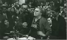 Emma Goldman speaking at a CNT-FAI meeting in Barcelona 1936