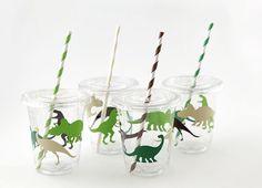 Dinosaur Cups - Dinosaur Birthday Party Cups, Dinosaur Party Supplies, Dino Birthday Cups, Dinosaur Party Favor Cups, Dinosaur Baby Shower