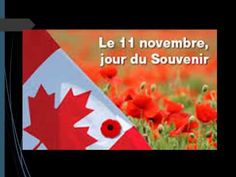 Jour du souvenir / Remembrance day - YouTube French Teaching Resources, Teaching French, Core French, French Teacher, French Immersion, Remembrance Day, Veterans Day, Halloween, November