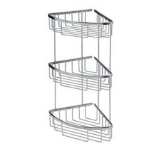 Buy the WS Bath Collections Filo 50033 Polished Chrome Direct. Shop for the WS Bath Collections Filo 50033 Polished Chrome Triple Shower Basket from the Filo Collection and save. Chichester, Corner Shower Caddy, Bathtub Accessories, Shower Basket, Shower Shelves, Basket Shelves, Bathtub Shower, Bathroom Storage, Bathroom Organization