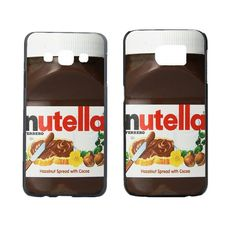 Nutella Design Case Cover For Samsung Galaxy S3 S4 S4 Mini S5 S5 Mini S6 S6 Edge Note 2 Note 3 Note 4 A3 A5 A7