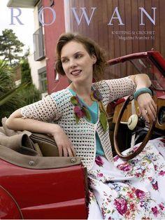 Crochetemoda: Crochet - Casaqueto Branco