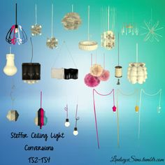 Steffor's ceiling light conversions at LindseyxSims • Sims 4 Updates