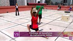Participação no Programa Você Bonita com Treinamento Militar - Demonstração de exerícios fisicos com os Coaches André Trombini e Dinei Siqueira. Publicado em 07 de março de 2016 | Blog Vida Saudável