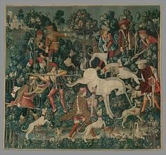 A unicorn tapestry at the Cloisters, NYC