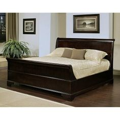 Kingston Espresso Sleigh Queen-size Bed