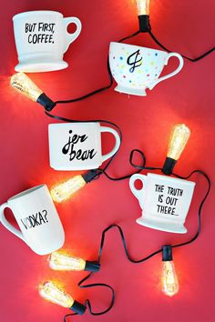 Try This: Food and Dishwasher Safe Mug Tutorial!   A Beautiful Mess   Bloglovin'