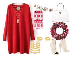 """""""red and white xmas"""" by mikage44 on Polyvore featuring Off-White, Stella & Dot, Juicy Couture, Forever 21, DwellStudio and Casetify"""