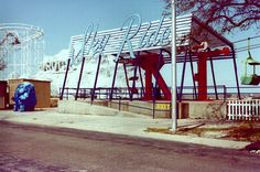 Sky Ride...That blue elephant now sits in front of a used car lot on Causeway Blvd