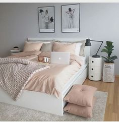 50 pink bedroom decor you can try yourself - Diyideasdecoration.club - 50 pink bedroom decor that you can try yourself out - Pink Bedroom Decor, Comfy Bedroom, Trendy Bedroom, Bedroom Colors, Modern Bedroom, Diy Bedroom, Pastel Bedroom, Bedroom Themes, Bedroom Small