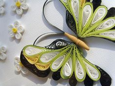 Quilling butterfly - no pattern