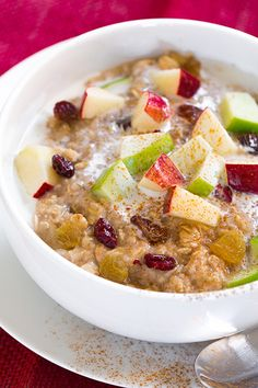 Fall Spiced Apple Cran-Raisin Oatmeal | Cooking Classy                                                                                                                                                                                 More