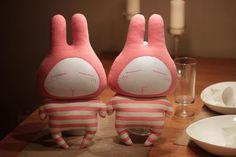 DIY material paquete manual de felpa almohada muñeca de juguete regalos de San Valentín pareja de boda Duzui conejo - Estación mundial Taobao