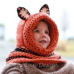 Knitting pattern Patron tricot  Faye Fox Cowl by TheEasyDesign