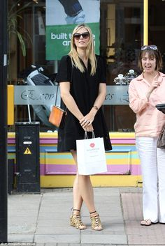 The 28-year-old swapped her tennis whites for a black dress when she went out over the weekend