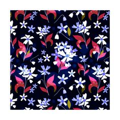 The mesmerizing contrast of baby blue cherry blossom on dark blue background  instagram.com/tseihadesign  #cherryblossom #sakura #flower #seamlesspattern #surfacedesign #surfacepattern #botanical #botanicalillustration #design #designer #art #artist #illustration #drawing #digitalart #botanicalgarden
