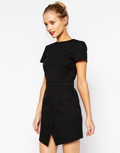 Enlarge ASOS Dress with Bonded Asymmetric Wrap