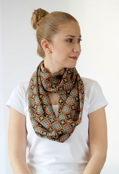 Infinity scarf Loop scarfspring by ChamomileAccessories on Etsy