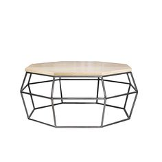 Octagonal coffee table with solid oak top on mild steel frame Epoxy Coating, Wire Frame, Steel Bar, Solid Oak, Steel Frame, 8 Weeks, Coffee Tables, Home Decor, Top