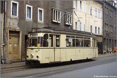 Straßenbahn Jena in zeitgenössischem Ambiente, 28.09.1983