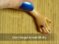 How to make Piercings, Rings for Barbie - Tutorial (glued on nail rhinestones, could use repositionable glue) Diy Clothes And Shoes, Diy Barbie Clothes, Barbie Stuff, Doll Stuff, Barbie Dolls, Doll House Crafts, Doll Crafts, Diy Doll, Custom Barbie