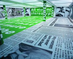 "Installation View, 2005, Gallery of Modern Art, Glasgow. Photo by Ruth Clark, 2005. From Rizzoli's ""Barbara Kruger'"