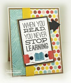 Bookmark Duo Die-namics and Stamp Set - Debbie Carriere