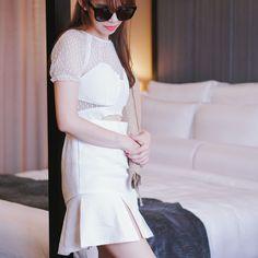 *BACK ORDER*Skyler White Dress – The Nude Skirt