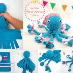 """Isn't this an absolutely adorable little craft project?! A reader sent me this via Facebook and I found the tutorial on how to make this over at the While She Naps blog. This project is so cute and I love that it's """"no sew"""" as well. The simpler the better I say. Jump over to the tutorial..."""